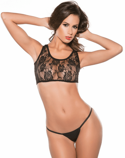 Falling For You Lace Top & G-string Set