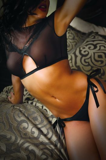 Fatal  Attraction Crop Top and Side Tie Panty