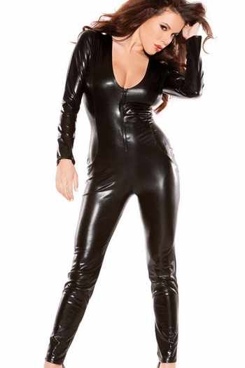 Fearless Babe Wet Look Catsuit