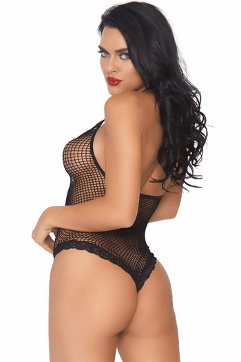 Fishnet Cage Strap Teddy