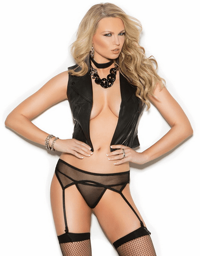 Fishnet Garterbelt & Panty Set