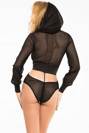 Fishnet Hooded Teddy