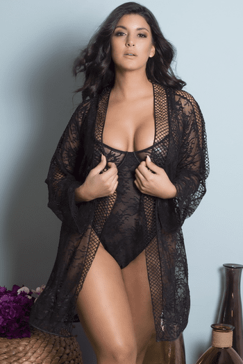Fishnet Lace Teddy