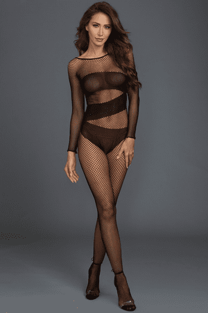 Fishnet Long Sleeved Opaque Bodystockings