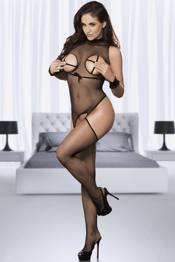 Fishnet Masked Bodystocking