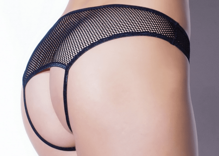 Fishnet Open Crotch Panty