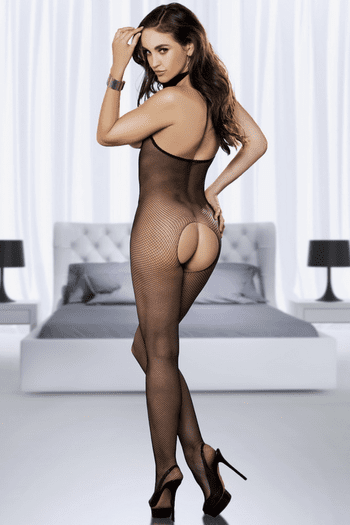 Fishnet Open Cup & Crotch Bodystocking
