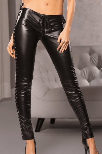 Fitted Lace Up Pants