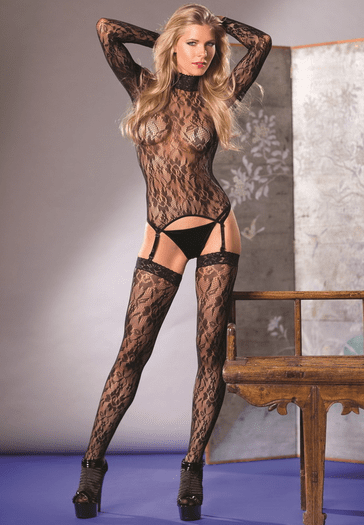 Floral Emotion Sexy Bodystocking