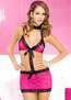 Floral Fuchsia Lace Cut Out Chemise