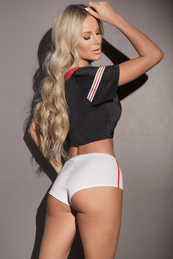 Football Crop Top & Booty Shorts