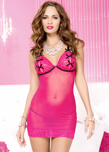 For Play Fuchsia Split Cup Chemise