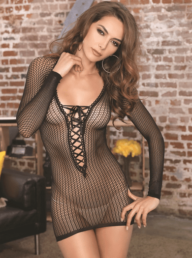Forget Me Not Fishnet Chemise