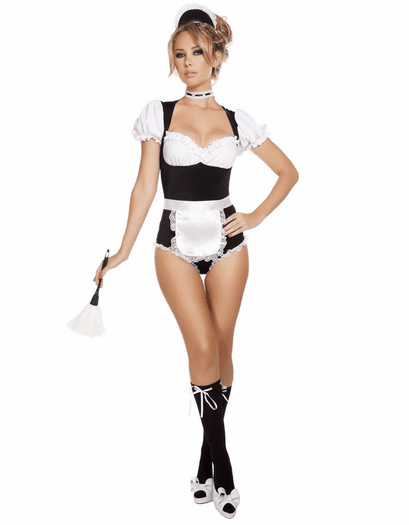 Foxy Cleaning Maid Sexy Costume