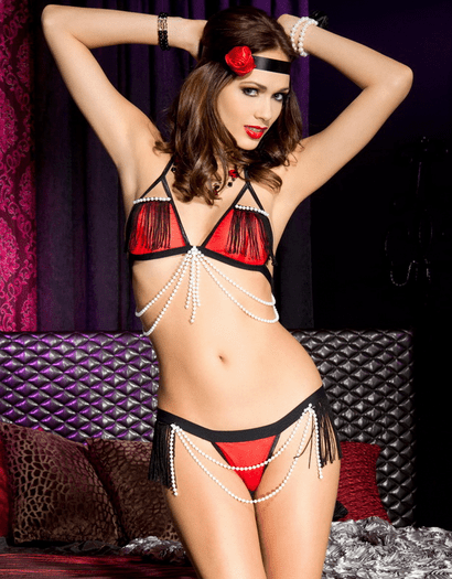Foxy Flapper Bedroom Costume Bra Set