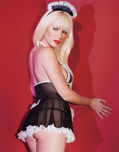 French Maid Babydoll Costume