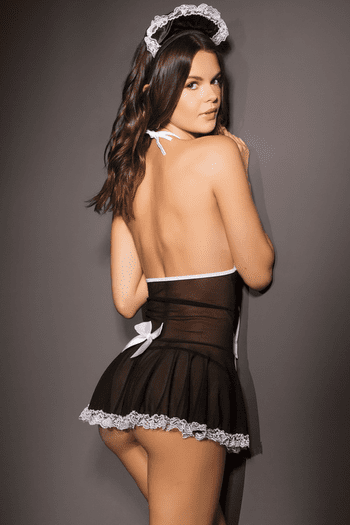 French Maid Chemise  & Headpiece
