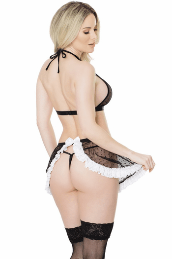 French Maid Top & Skirt Set