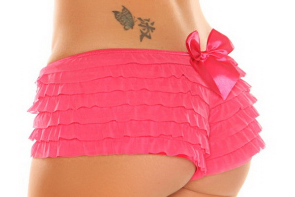 Fuchsia Ruffle Panty With Bow