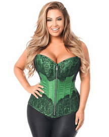 Full bust Emerald Brocade Corset
