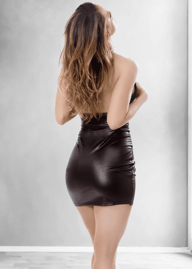Chained Faux Leather Chemise