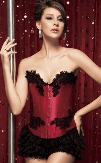 Girl On Fire Sexy Red Burlesque Corset