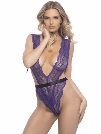 Good Time Lace Thong Teddy