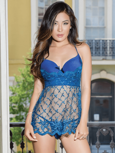 Gorgeous Girl Sexy Lace Babydoll & Thong Set