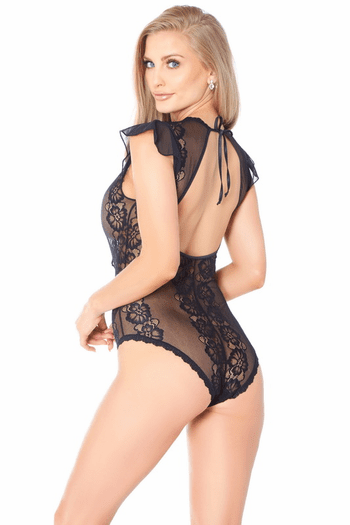 Gorgeous Sheer Lace Teddy