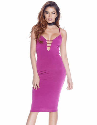 Got Me Blushing Mid Bodycon Dress
