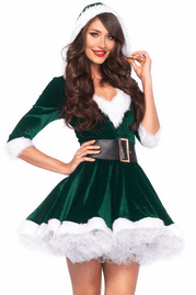 Green Mrs. Claus Christmas Costume