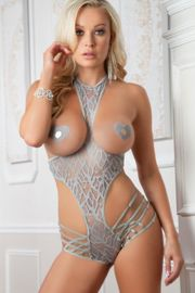 Grey Cupless Halter Teddy