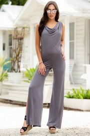 Grey Hooded Jumpsuit