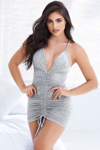 Grey Scrunch Front Sleep Chemise