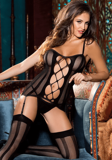 H.O.T Fantasize About Me Sexy Fishnet Set