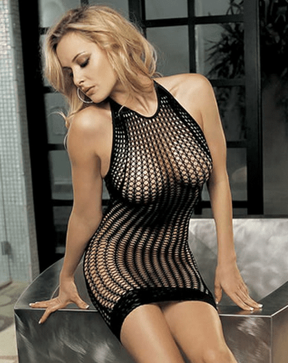 H.O.T. Honeycomb Fishnet Dress