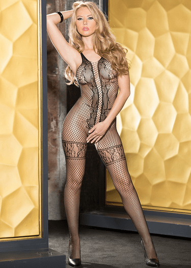 H.O.T Open Front Sexy Bodystocking