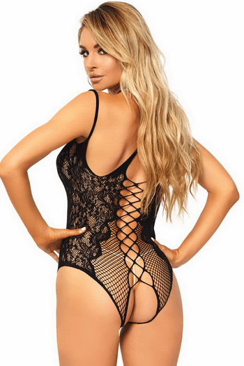 Halter Open Crotch Teddy