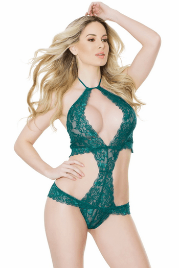 Haltered Lace Teddy