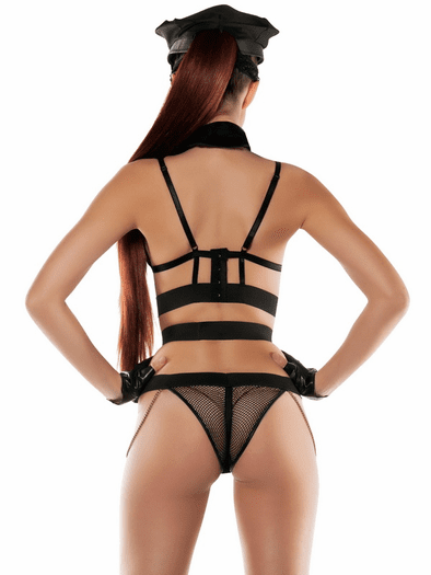 Handcuff Me Officer Fetish Role Play Lingerie Set