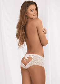 Heart Lace Crotchless Panty