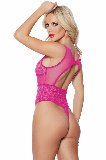Heather & Lace Hot Pink Teddy
