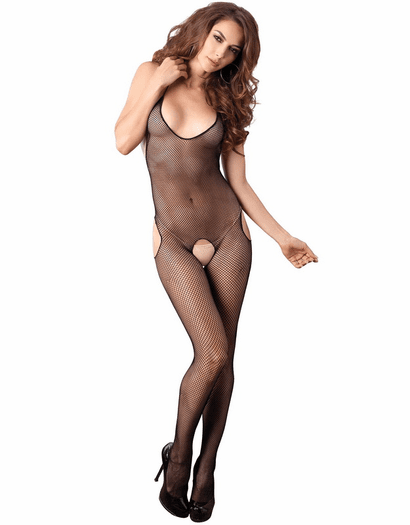 Hip Cut Out Fishnet Bodystocking