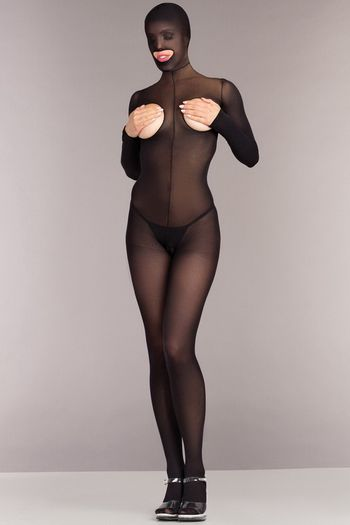 Hooded Cupless Bodystocking