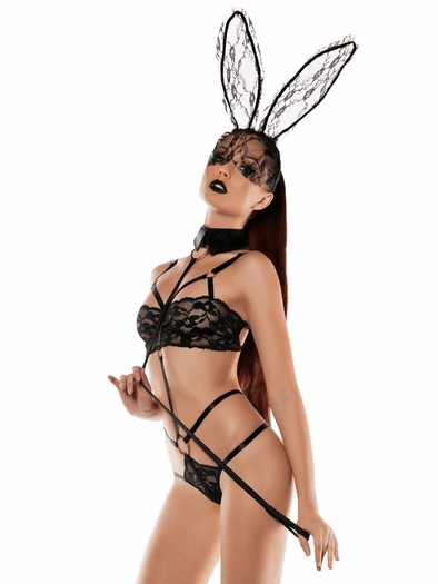 Hop On Lace Bunny Teddy Bedroom Costume