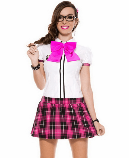 Cute Nerd School Girl Costume