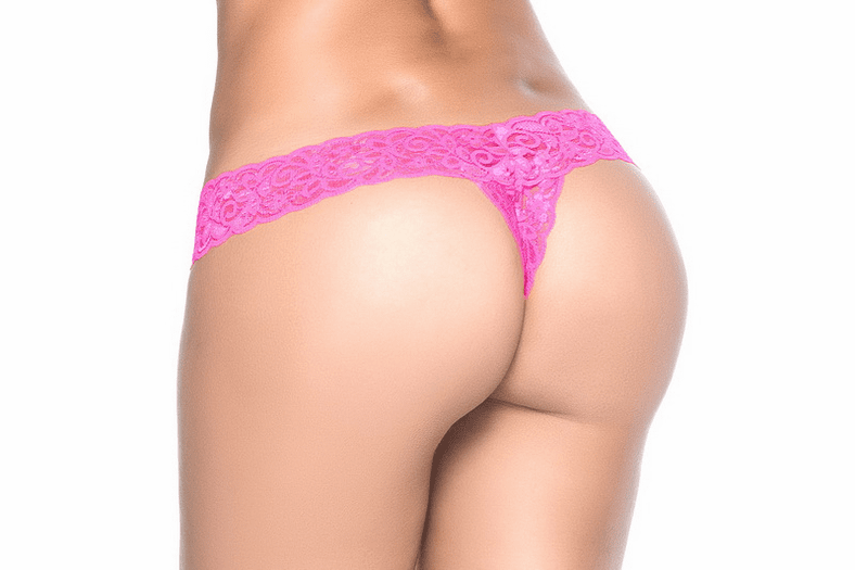 Hot Pink Lace Thong