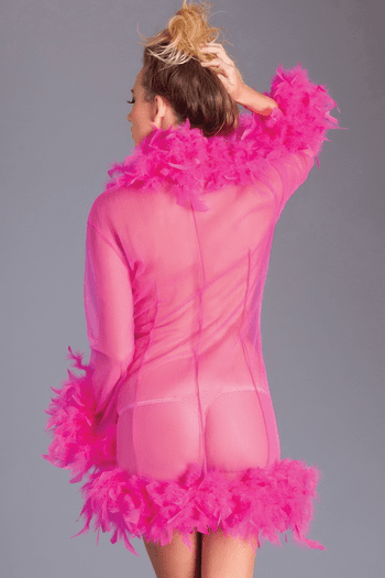 Hot Pink Lux Feather Robe