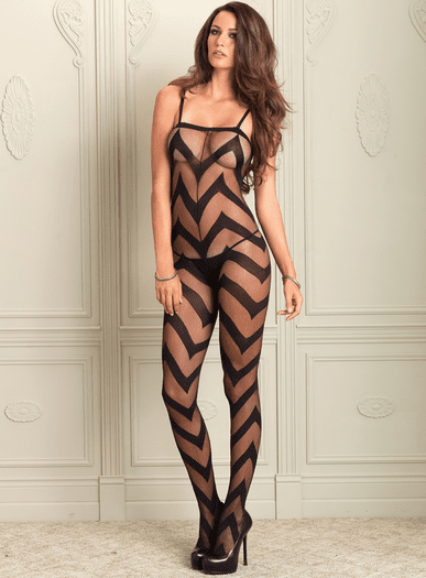 Hot Stuff Sexy Chevron Bodystocking