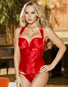 How Deep Is Your Love Red Halter Corset